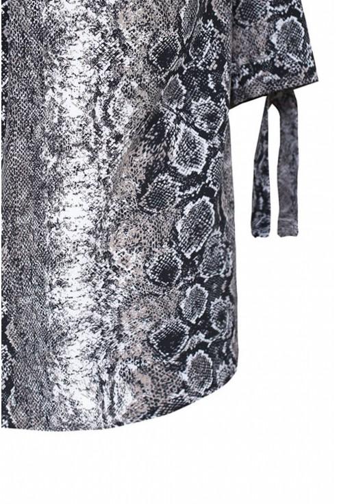 Bluzka hiszpanka ze zwierzęcym wzorem