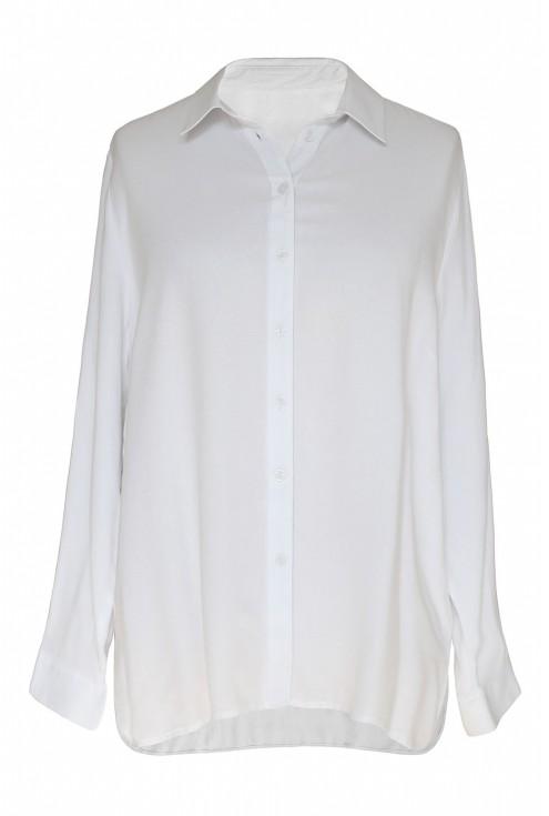 Biała koszula damska duże rozmiary