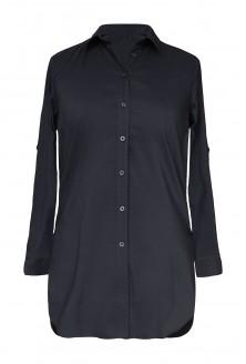 Długa czarna koszula-tunika xxl