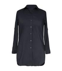 Długa czarna koszula-tunika SHEILA