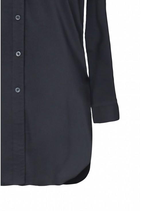 Długa czarna koszula plus size