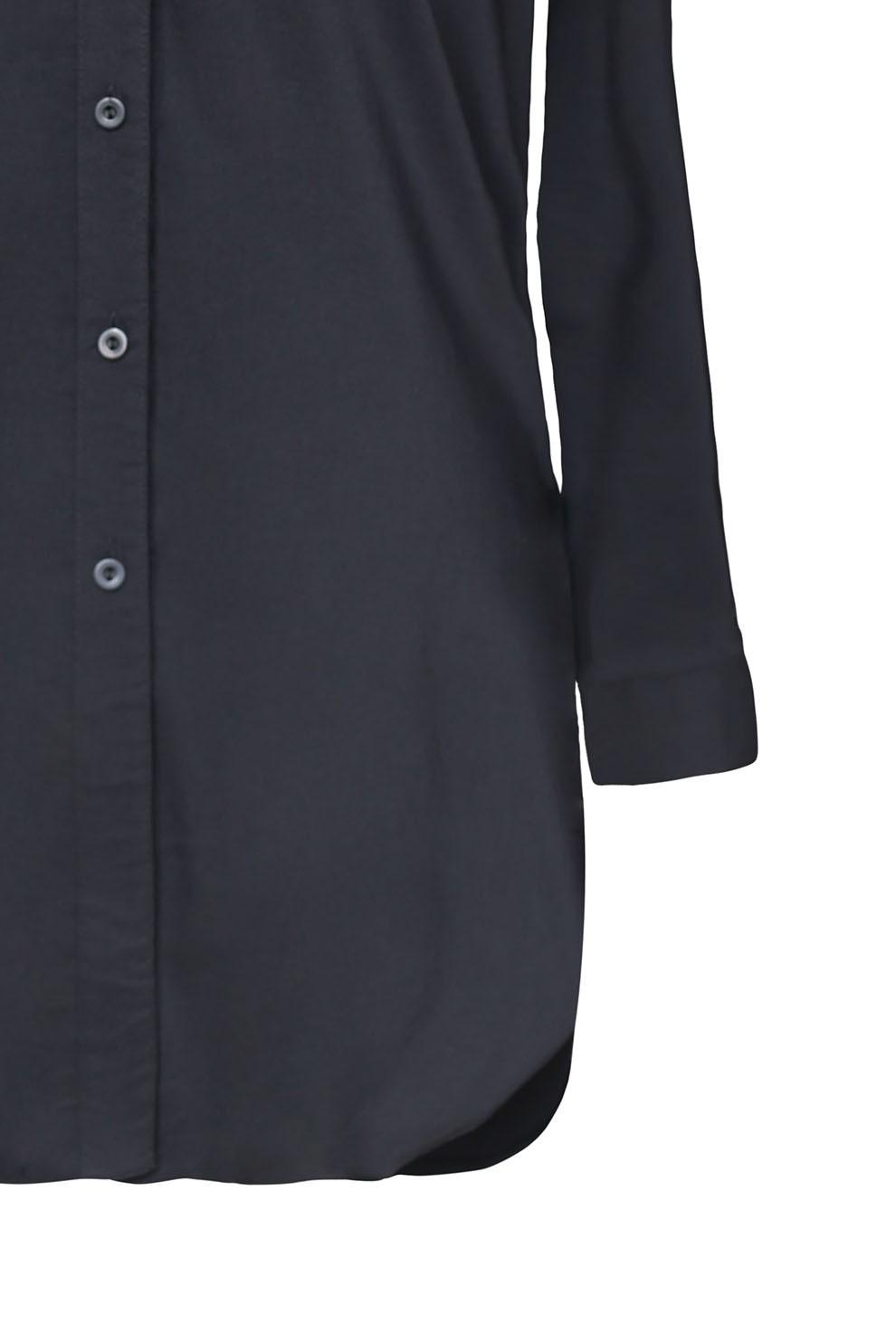 Długa czarna koszula tunika z biało czarną krawatką SHEILA  97dMe