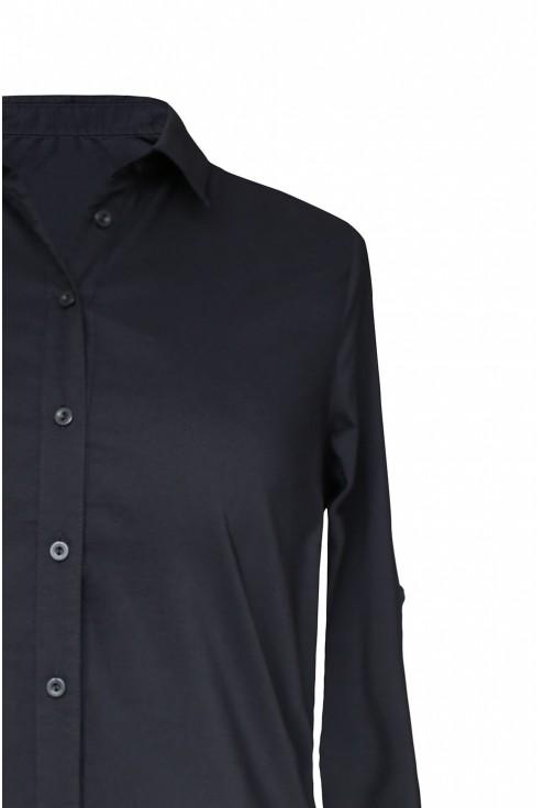 Długa czarna koszula-tunika duże rozmiary