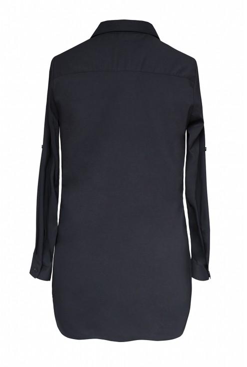 Długa czarna koszula xxl