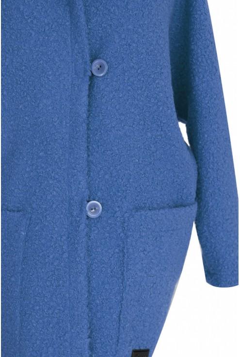 Płaszcz w kolorze jeansowym dla kobiet w dużych rozmiarach