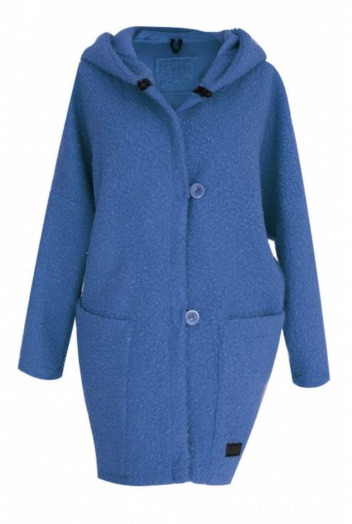 Płaszcz z kapturem oversize w dużych rozmiarach