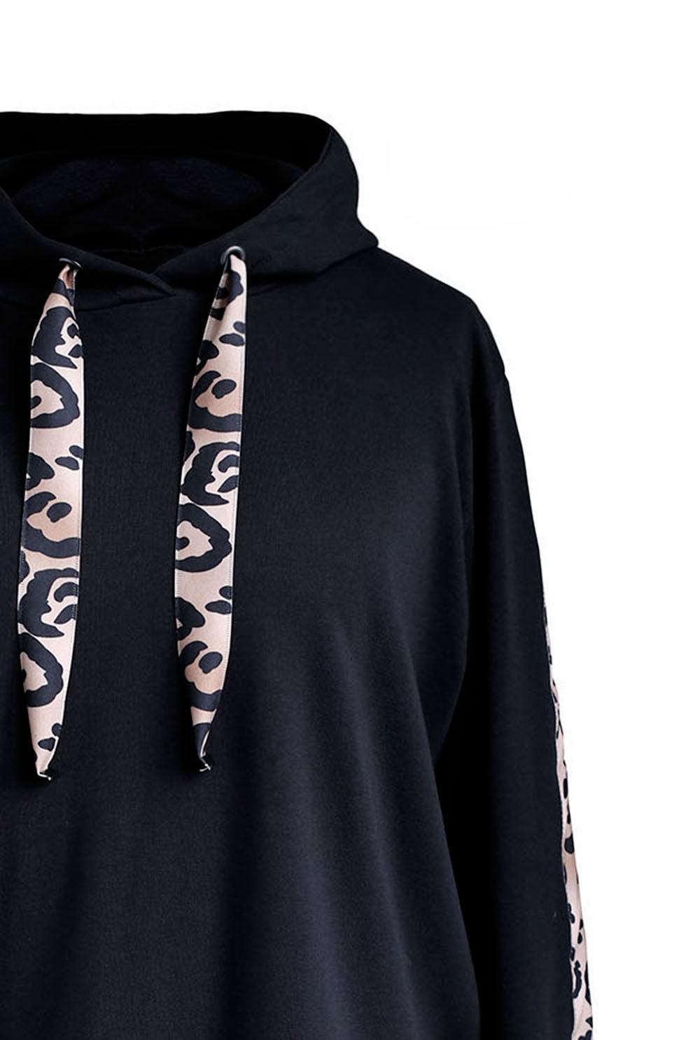 bluza w panterkę czarna