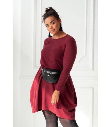 Bordowa ciepła sukienka HANNAH