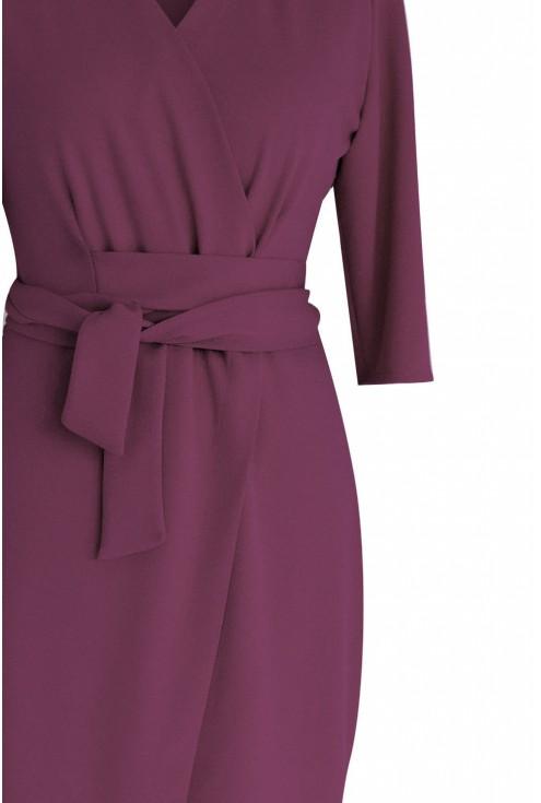 Sukienka z wiązaniem plus size