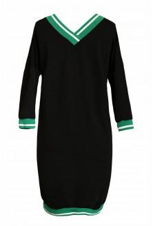 czarna sukienka ze ściągaczem - duże rozmiary