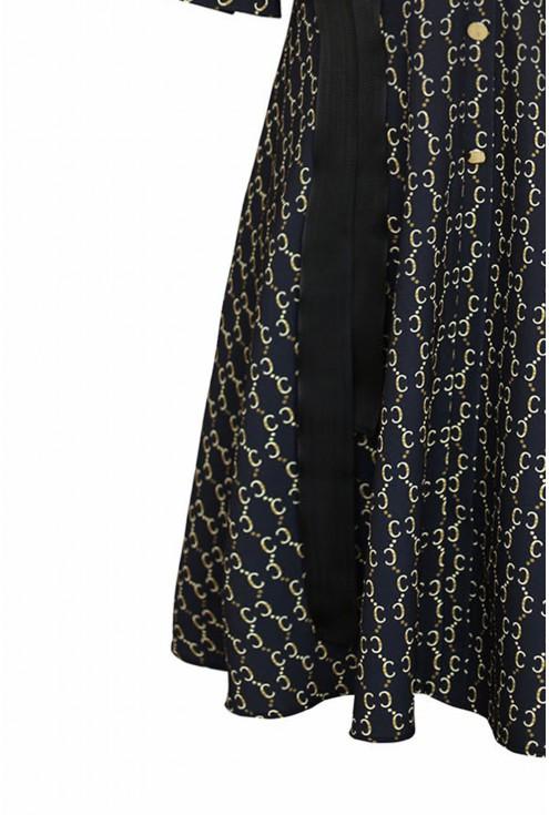 czarno-złota sukienka - dół