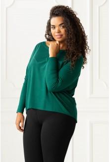butelkowa bluzka Erin - duże rozmiary