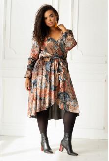 Sukienka DOLCE WELUR w odcieniach brązów