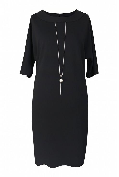 Czarna sukienka xxl na wieczór