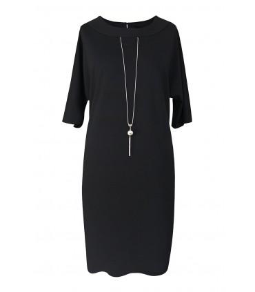 Czarna sukienka z wisiorkiem HOLI