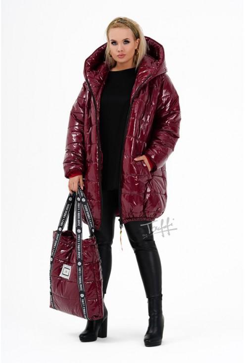 bordowa kurtka - duże rozmiary