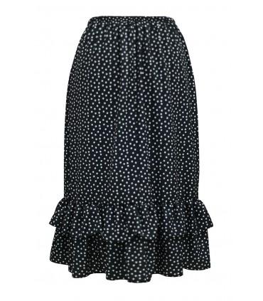 Czarna spódnica z wzorem w kropki - ELSIE