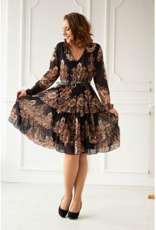 czarno-złota sukienka - duże rozmiary