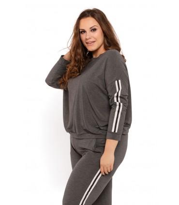 Piżama damska zestaw - bluza + spodnie - SALLY