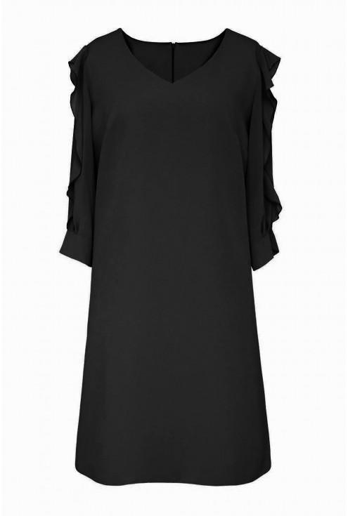 czarna sukienka - przód