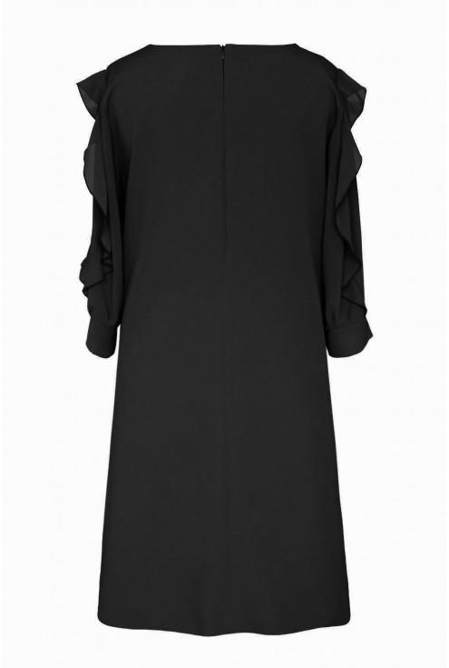 czarna sukienka - tył