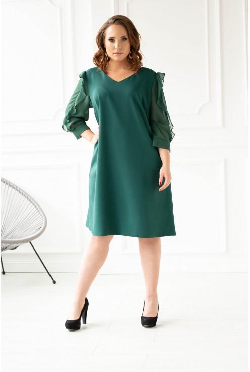 Butelkowa sukienka xxl