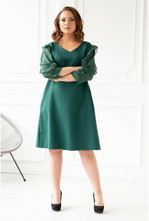 Butelkowa sukienka duże rozmiary