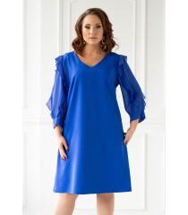 Chabrowa sukienka JANE z szyfonowymi rękawami