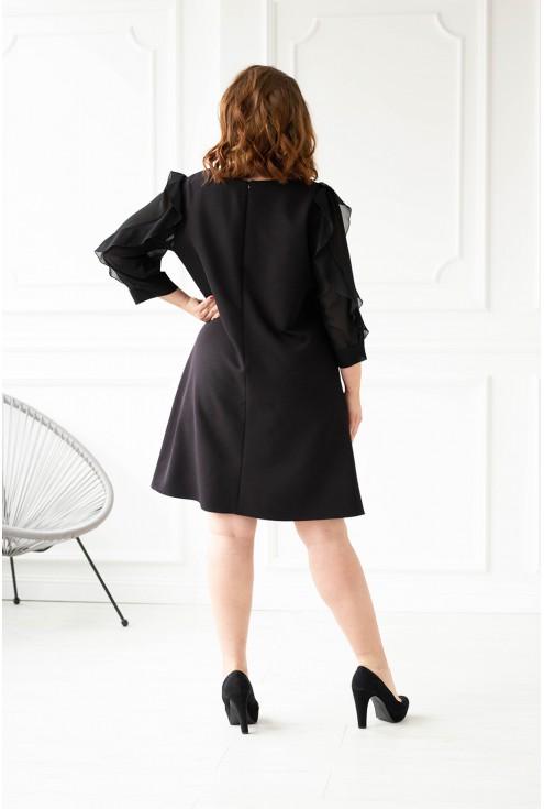 Czarna sukienka duże rozmiary tył