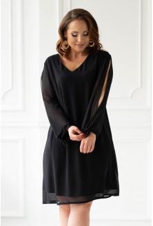 Czarna sukienka plus size