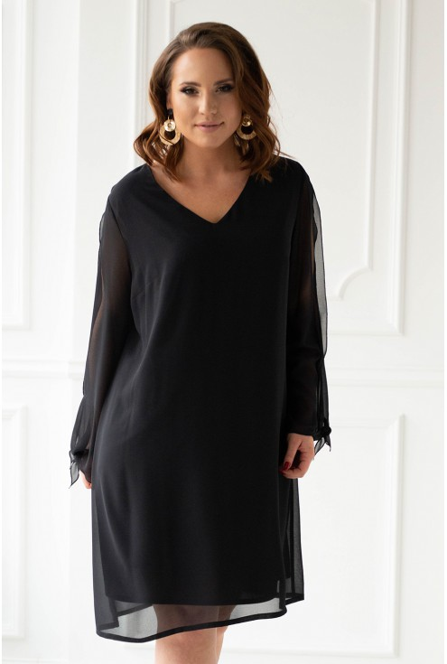 Czarna sukienka xxxl