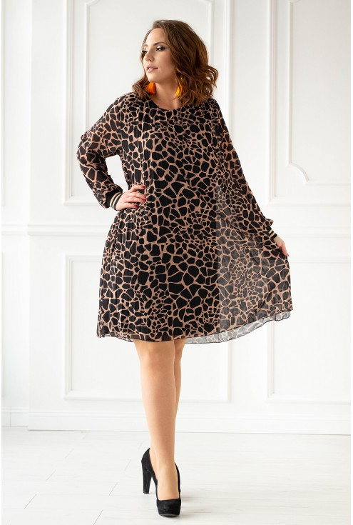 Plisowana sukienka duże rozmiary