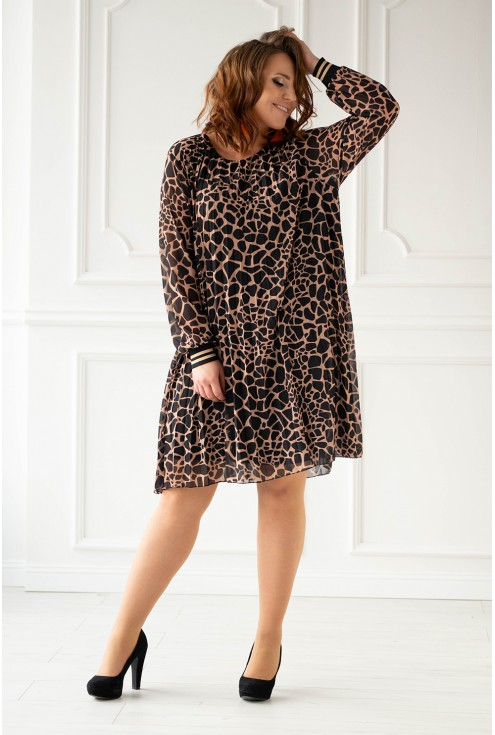 Plisowana sukienka xxl