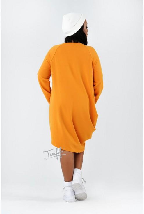miodowa sukienka Misha - tył