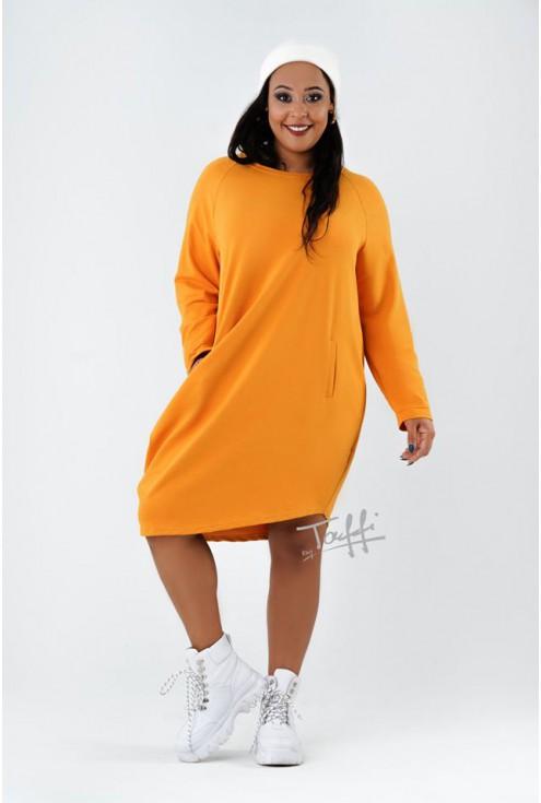 miodowa sukienka dresowa xxl