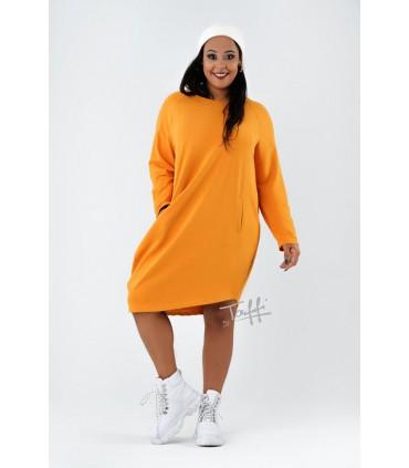 Miodowa dresowa sukienka oversize - MISHA