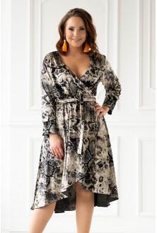 jasna sukienka z weluru xxl