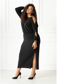 Czarna długa sukienka xxl