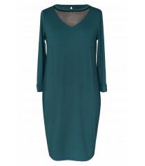 Butelkowa sukienka z siateczką w dekolcie BETTY