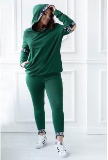 butelkowy zestaw legginsy + bluza - przód