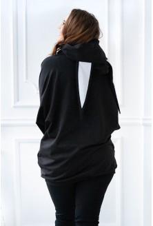 czarna bluza z uszkami - tył