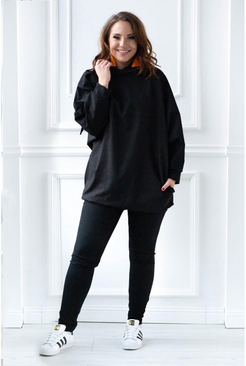 czarna długa bluza oversize xxl