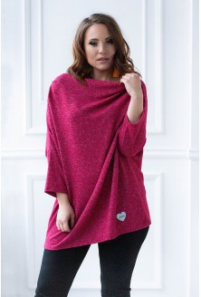 bordowy sweterek xxl