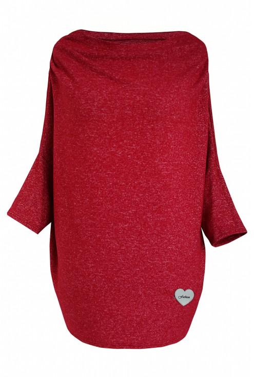 Bordowy sweterek CLARISSA z rękawkiem
