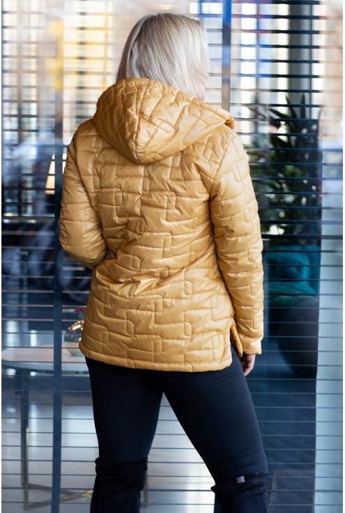Miodowa pikowana kurtka xxl