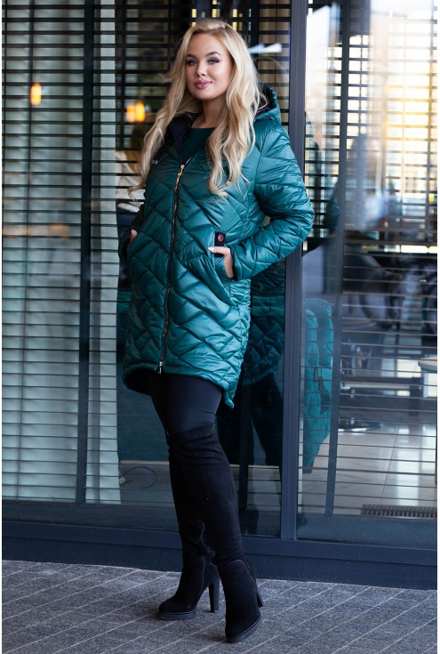 Zimowa kurtka pikowana plus size