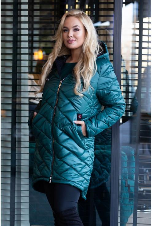 Zielona kurtka xxl moda plus size
