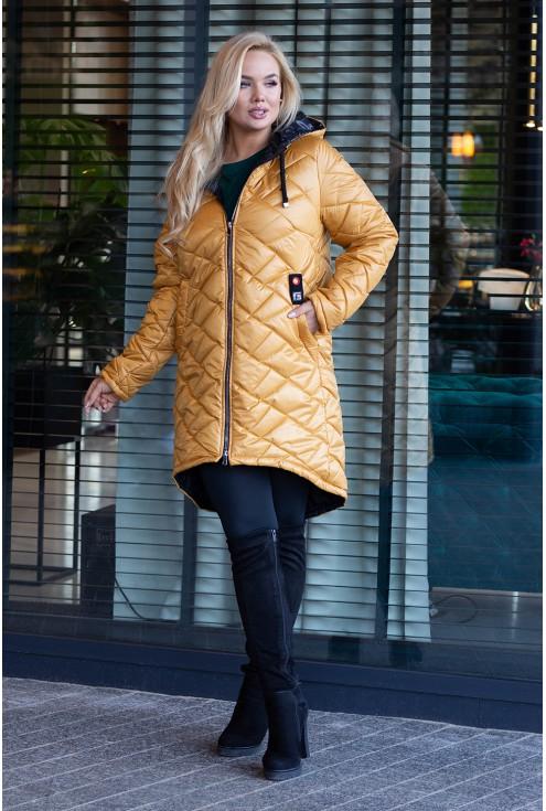 Długa kurtka pikowana duże rozmiary