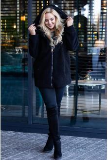 Czarna bluza plus size płaszcz xxl