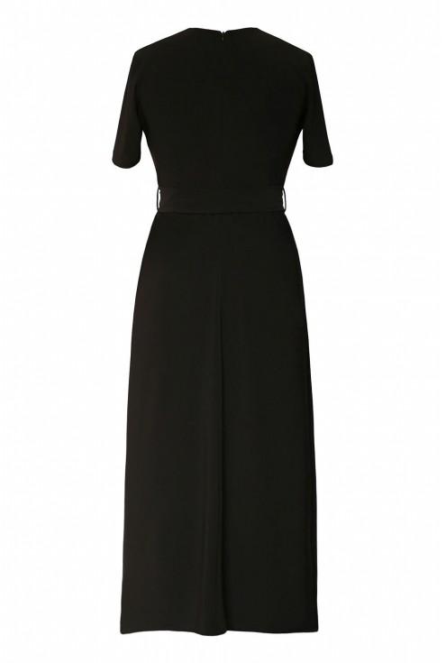 Czarna sukienka maxi 7/8 plus size